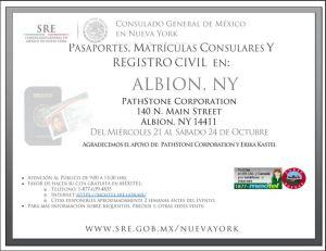 Visite la página web del Consulado Mexicano para más información y otras fechas.